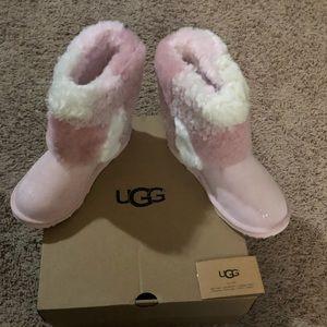 UGG KIDS classic short patchwork fluff boot